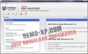 SysTools PDF Unlocker v3.1
